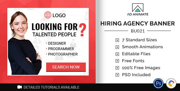 Business Banner - Hiring Talent Ad Banner (BU021)
