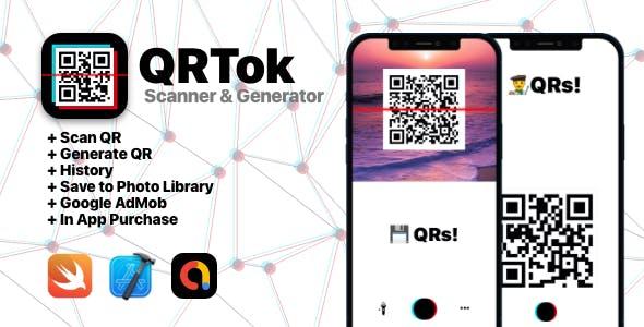 QRTok Generator & Reader  - iOS Full Application