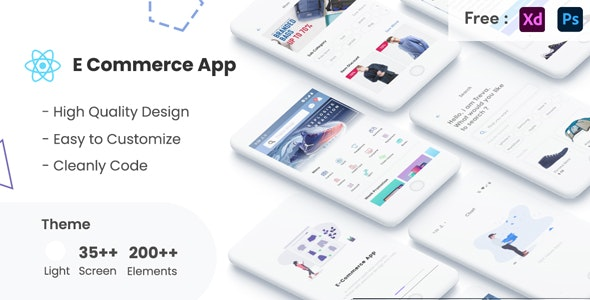 React Native ECommerce UI KIT Template in react native e-commerce store apps - CodeCanyon Item for Sale