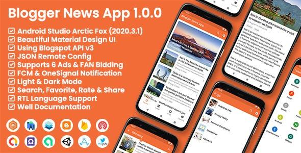 Blogger News App - Blogger API v3