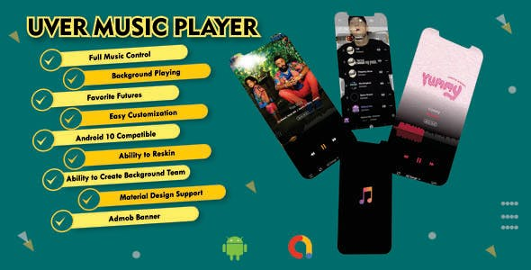 UverMusic Player| AudioMack Clone |Best Music Player with Possible admob Integration