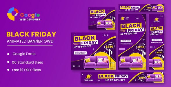Black Friday Furniture HTML5 Banner Ads GWD