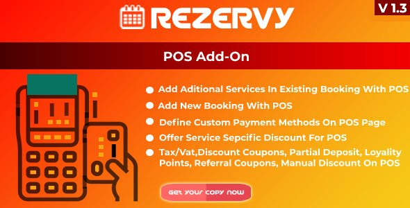 Rezervy - Point of sale system for bookings & multi payment management (POS AddOn)