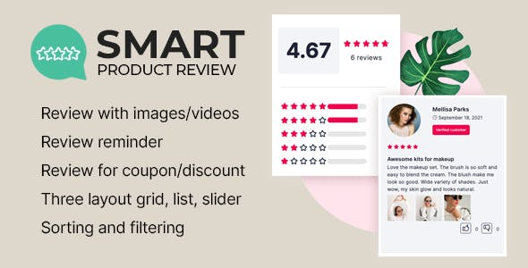 Smart Product Review For WooCommerce
