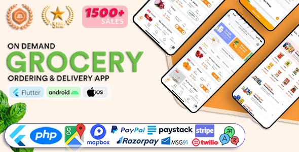 GoGrocer   Grocery & Vegetable Flutter Delivery App with PHP Backend