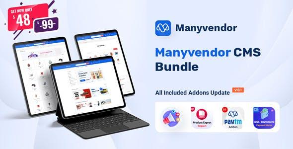 Manyvendor - eCommerce & Multivendor CMS Bundle