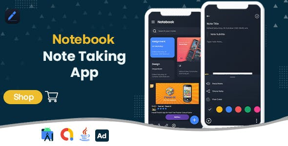 Notebook - Note Taking - Android App with - Admob Ads