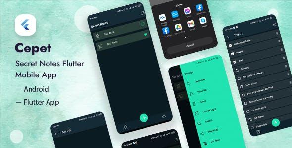 Cepet - Personal Daily Secret Notes Flutter App