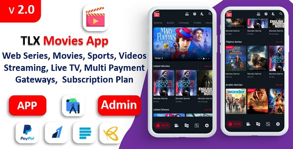 TLX Movies App | Web Series, Movies,  Videos Streaming, Live TV | Payment Gateways | Subscriptions