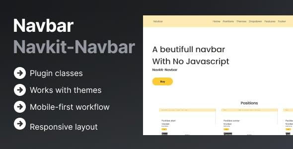Navkit | A HTML/CSS ONLY Responsive Navbar
