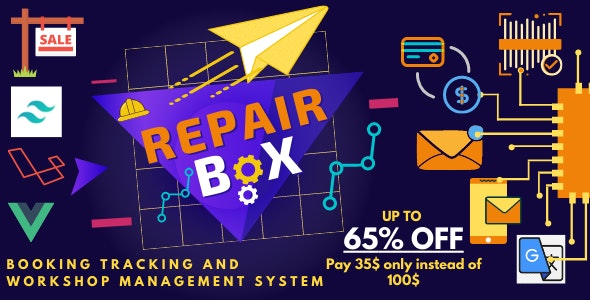 Repair box - Repair booking,tracking and workshop management system - CodeCanyon Item for Sale