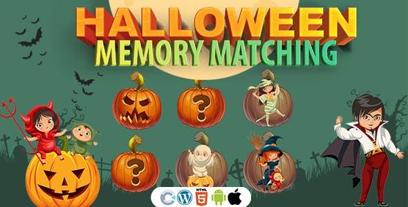 Halloween Memory Matching Game (Construct 3 | C3P | HTML5) Halloween Game