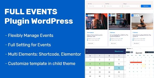 FullEvents v1.0.6 – Event Plugin WordPress