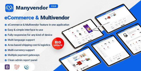 Manyvendor - eCommerce & Multivendor CMS
