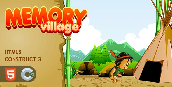 Memory Village HTML5 Construct 3 Game