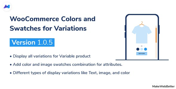 WooCommerce Colors and Swatches for Variations