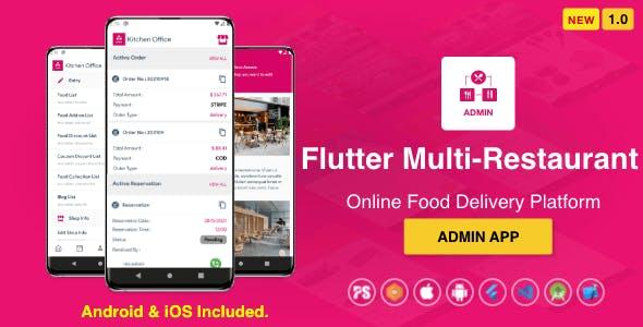 Admin App For Flutter Multi-Restaurant (1.0)