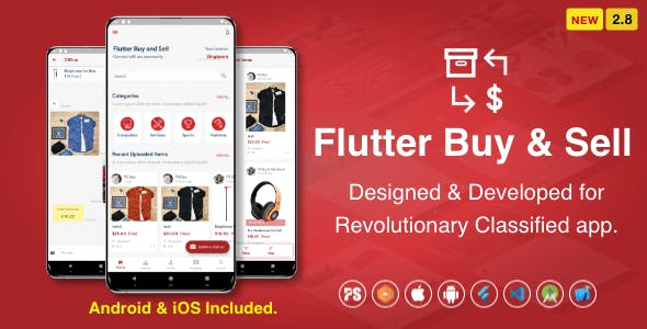 Flutter BuySell For iOS Android ( Olx, Mercari, Offerup, Carousell, Buy Sell, Classified ) ( 2.8 )