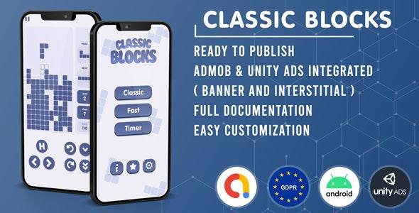 Classic Blocks Tetris v1.0 – Admob + GDPR + Unity Ads