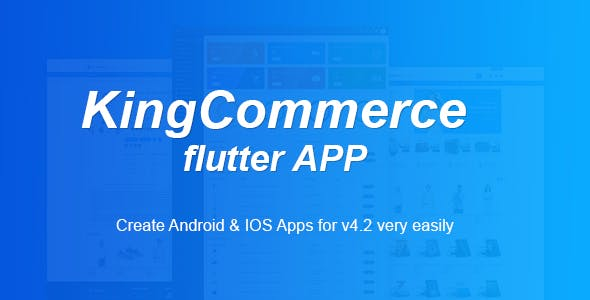 KingCommerce  APP - Multi vendor eCommerce Android and IOS Flutter App
