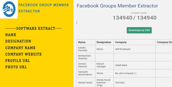 Facebook Group Member Extractor-Chrome Extension