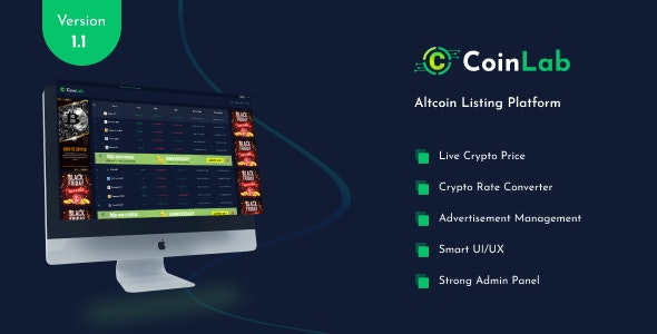 CoinLab - Altcoin Listing Platform - CodeCanyon Item for Sale
