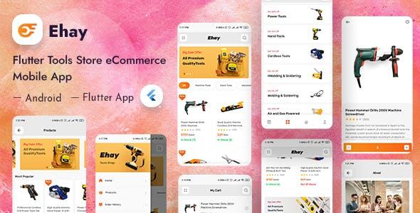 Ehay - Tools & Parts Store eCommerce Flutter App + Admin Dashboard