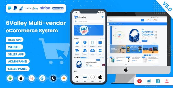 6valley v5.0 – Complete eCommerce Mobile App, Web, Seller and Admin Panel – nulled