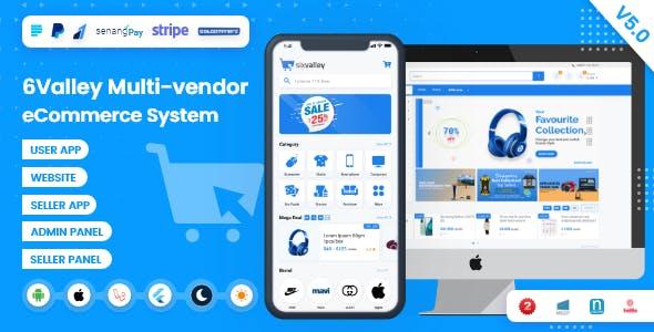6valley Multi-Vendor E-commerce - Complete eCommerce Mobile App, Web, Seller and Admin Panel V5.0