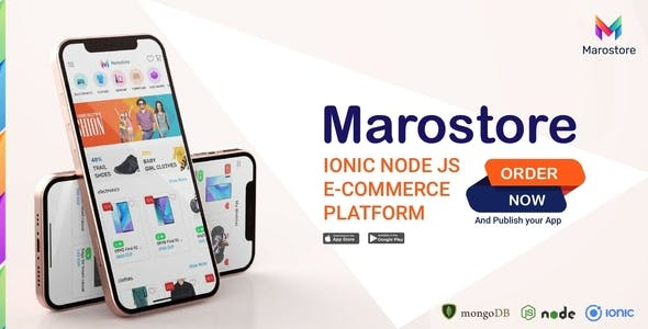 ionic node js e-commerce platform full application - android - ios - dashboard - backend