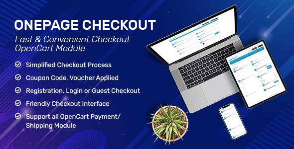 OnePage Checkout - Fast & Responsive Checkout Module for OpenCart 3.x & OpenCart 2.x