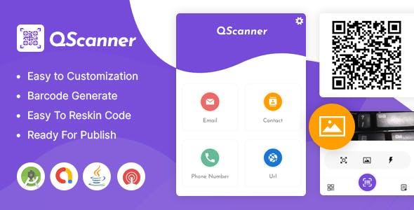 QScanner - Multipurpose QR Barcode Scanner & Generator   Admob   OneSignal Push Notification