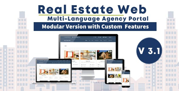 Real Estate Web - with Agency Portal and Multi-Language Management System