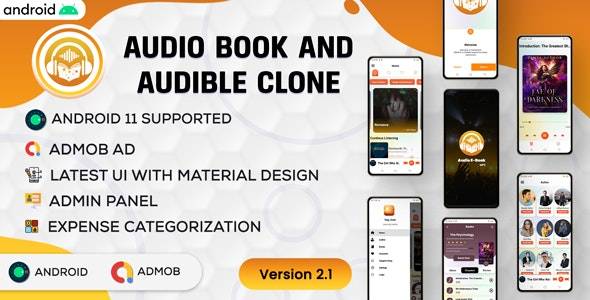 Android Audio book - Audible | Audiobok WIth Chapter | Home Section |  Android App | Admob | v2.1 - CodeCanyon Item for Sale
