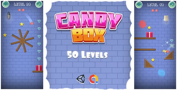 Candy Box - Physics-based Puzzle Mobile/Android Game (Unity Game + Admob)