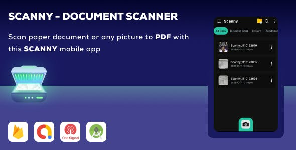 Scanny Document Scanner - PDF Scanner + A Premium Android document Scanner