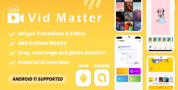 Vid Master - Movie & Slideshow Maker (Android 11 Supported)