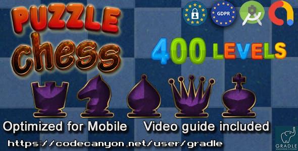 Chess Puzzle 400 (Admob + GDPR + Android Studio)