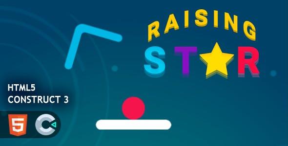 Raising Star HTML5 Construct 3 Game