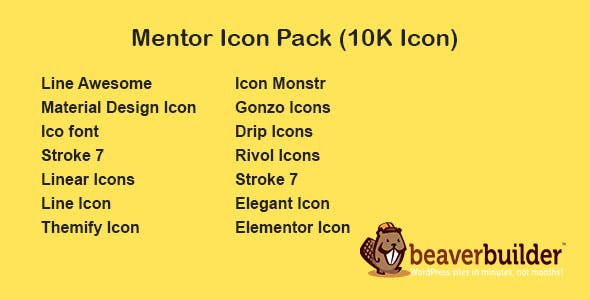 Mentor Icon Pack for Beaver Page Builder