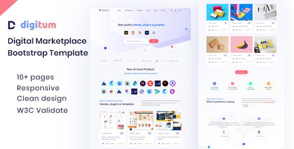 Digitum | Digital Marketplace html Template