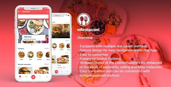 Mrestaurant Application for User with multivendor backend in Flutter