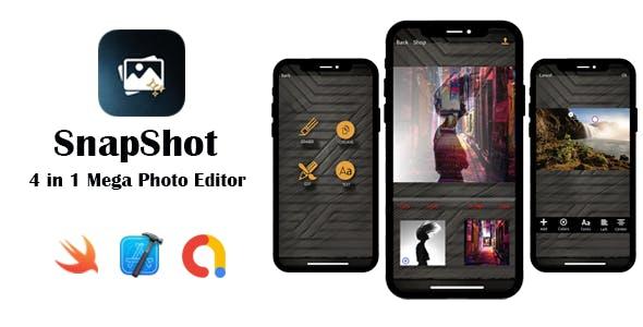 SnapShot - Mega Photo Editor   Google AdMob   In App Purchase   iOS Source Code