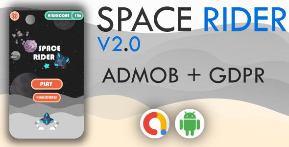 Space Rider Shooter + AdMob - Android Game