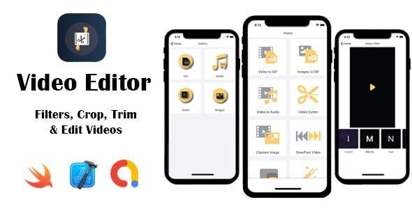 Video Editor - Filters, Crop, Trim & Edit Videos   Google AdMob   iOS Source Code