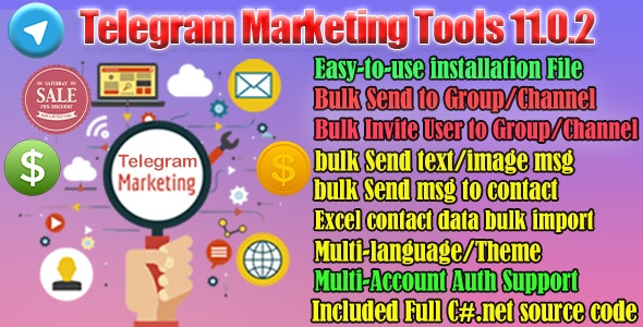 Telegram Marketer Tools 11 - CodeCanyon Item for Sale