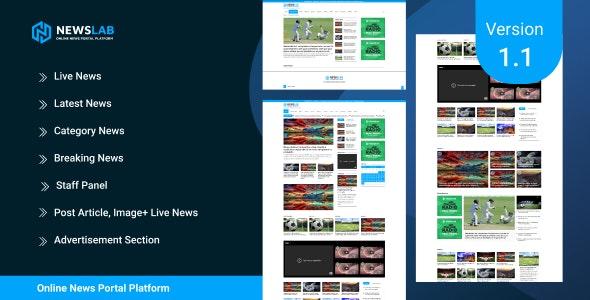 NewsLab v1.1 – Online Newspaper And Magazine Platform – nulled