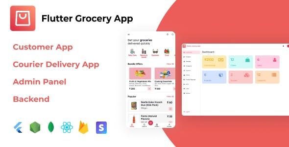 Flutter Grocery App + React.js Admin Panel + Node.js Backend