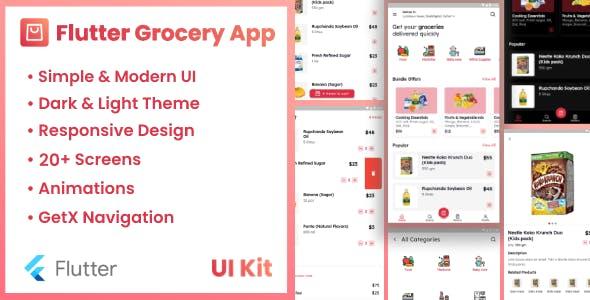 Flutter Grocery App UI Kit