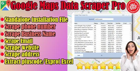 Google Maps Data Scraper Pro